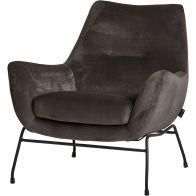 Le Chair Fauteuil Chevy Velvet Granite