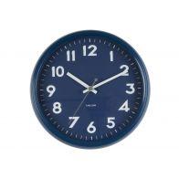 Karlsson Wall Clock Badge Metal Dark Blue D38