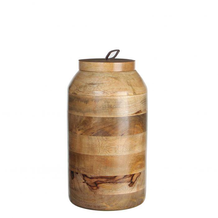 Pot Met Deksel.Casa Vivante Pot Deksel Nina H27d15 L Bruin Outlet Duiven