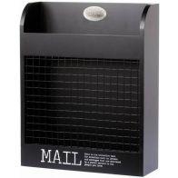 MAILBOX MAIL BLACK 23CM