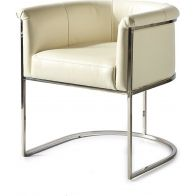RIVIERA MAISON NEW YORK DINING ARMCHAIR PEL WHITE