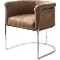 RIVIERA MAISON NEW YORK DINING ARMCHAIR PEL COFFEE