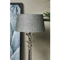 RIVIERA MAISON LOVEABLE LINEN LAMPSHADE GREY 25X30
