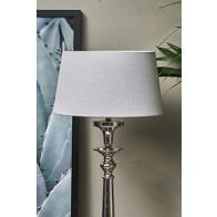 RIVIERA MAISON LOVEABLE LINEN LAMPSHADE L.GREY 25X30