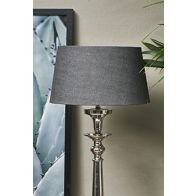 RIVIERA MAISON LOVEABLE LINEN LAMPSHADE CHARCOAL 25X30