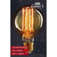 LED RETRO LAMP 80X120MM E27 2W