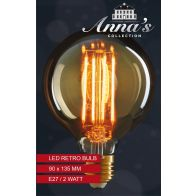 LED RETRO LAMP 95X135MM E27 2W