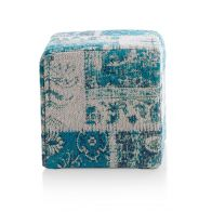 COCO MAISON POEF ROYAL PATCHWORK GROEN 40X40CM